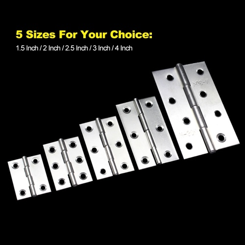 TOMTOP / 4pcs Stainless Steel Folding Butt Hinges