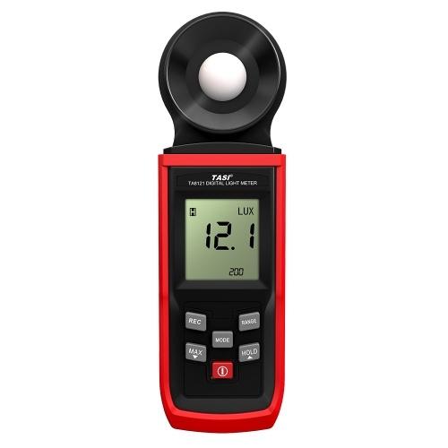 TASI Handheld Lux Meter Mini LCD Luminometer Digital Photometer Luxmeter Light Meter Illuminometer 0-100000 Lux with Max/Min/Data Hold Mode