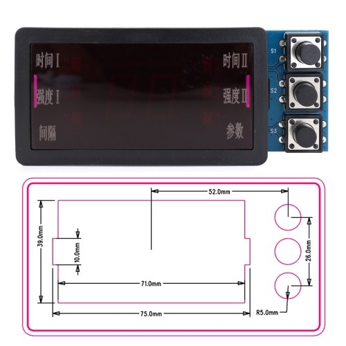 Spot Welding Machine Control Panel Double Pulse Convenient Easy Installation Stable With Motherboard Plastics Base