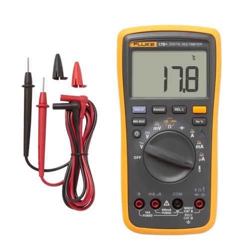 FLUKE F17B + 4000 Zählermultimeter Tragbares Digitalmultimeter Handvoltmeter Amperemeter Spannungsmesser Universalmesser Messen des AC / DC-Spannungswiderstands Kapazität Durchgangsdiode Temperatur Frequenz Einschaltdauer