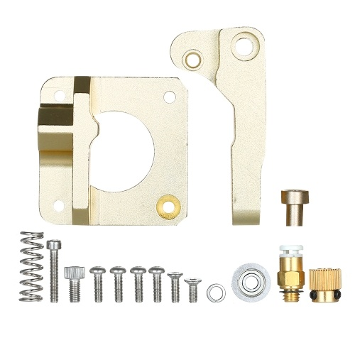 MK8 Remote Extruder 3D Printer Parts Aluminum Alloy Block Bowden Extruder 1.75mm Filament Reprap Extrusion For CR10 CR-10 Gold Right Hand
