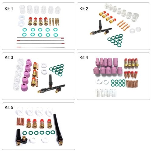 30Pcs TIG Welding Torch Accessories 6#-12# Glass Cup Kit for WP17/18/26