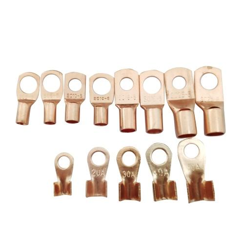 130 Teile / schachtel Kupferkabelschuhe Schwere Kabelschuhe Terminal Connectors Assortment Kit