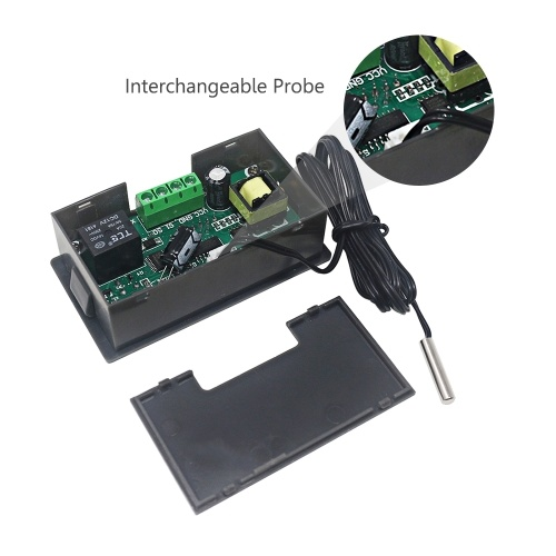 W3230 Мини Цифровой Регулятор Температуры СВЕТОДИОДНЫЙ Дисплей Термостат Регулятор DC 24 В 20A Датчик Температуры Переключатель Датчик Метр фото