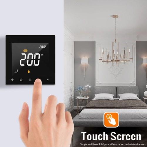 Thermostat intelligent WIFI Contrôleur de température d'eau de chauffage au sol programmable avec écran tactile avec application et télécommande