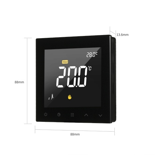 WIFI Smart Thermostat Programmable Water Floor Heating Temperature Controller Touchscreen Color Display wiht App Remote Control