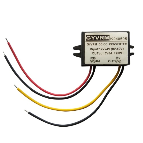 Regolatore convertitore DC / DC portatile 12V / 24V Step Down fino a 5V 5A 25W Convertitore impermeabile per trasformatore a risparmio energetico