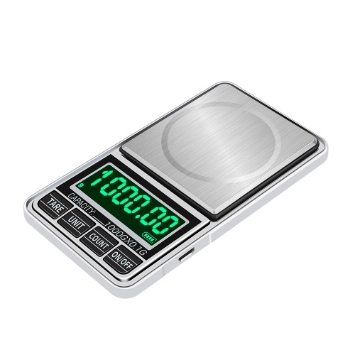 Portable Digital Scale Gold Jewelry Scale Mini Pocket Digital Scale Professional Accurate Electronic Scale Precision Balance 1kg/0.1g DH-938C