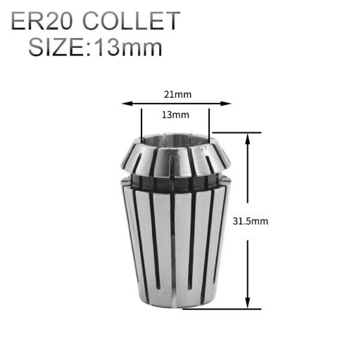 10pcs ER16 ER20 Spring Collet Chuck Set 6.5mm 8mm 13mm for CNC Engraving Machine Milling Lathe Tool