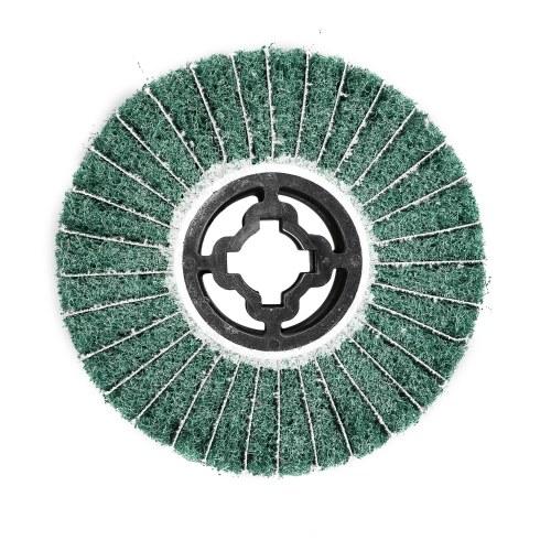 Ruota per lucidare non tessuta Ruota per trafilatura in acciaio inossidabile Ruota in fibra del motore portatile Ruota per lucidare il motore compatibile con Macchina per lucidare / Lucidatrice / Levigatrice Verde 80 # 120mm * 100mm