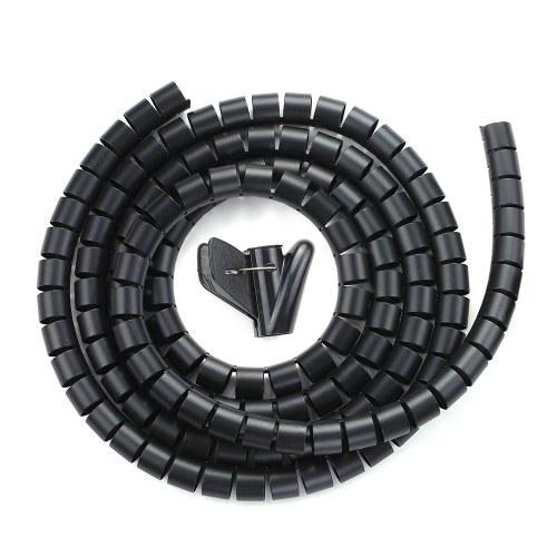 """0,8 """"Diametro Manicotto di gestione dei cavi Avvolgicavo Filo per tubi Filo 20mm Filo per avvolgere Organizzatore Manicotti per tubi per cavi"""