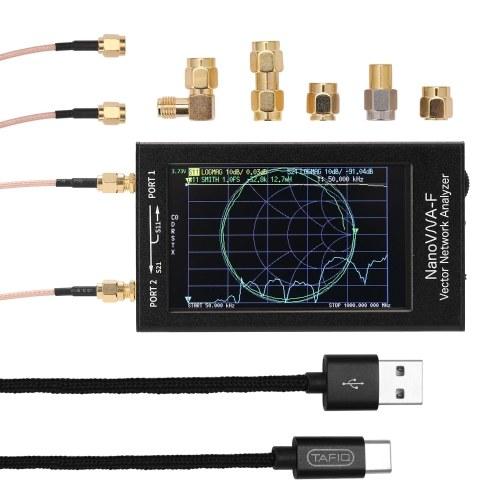 NanoVNA-F Portable Handheld Vector Network Analyzer SWR Meter 50KHz-1000MHz 4.3 Inch IPS TFT Digital Display Touching Screen Shortwave MF HF VHF Antenna Analyzer
