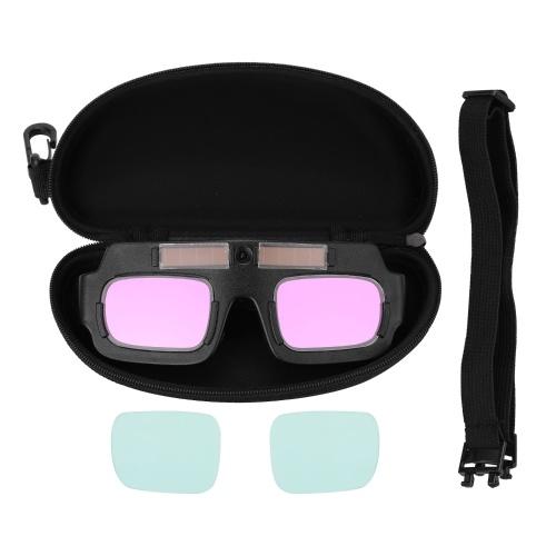 Solar Energy Auto Darkening Welding Safety Goggles Anti UV Weld Professional Glasses