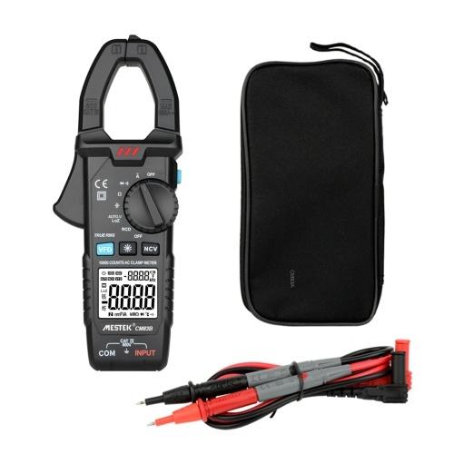 MESTEKデジタルクランプメーター600A AC電流600V AC / DC電圧静電容量測定データホールドバックライトNCVテスターマルチメーター