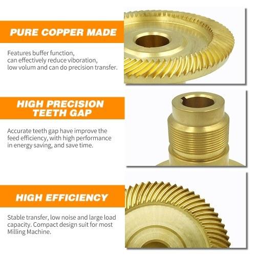Milling Machine Bevel Gear Spiral Bevel Gear Bridgeport Bronze Gear For Servo Power Feeder Right Tooth TOMTOP фото