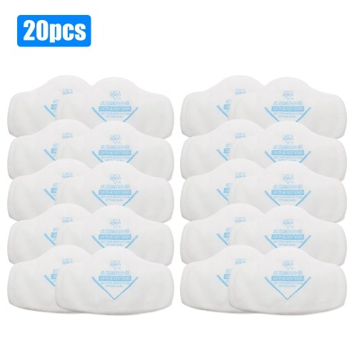 20pcs Filter Cotton for Full Face Mask Anti-Dust Mask Goggles Set Paint Spraying Decoration Respirator Tools Chemical Pesticides Safety Guard Replace Filter