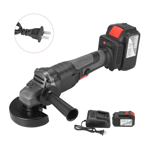 18V Brushless Angle Grinder Tool 100mm Variable Speed 4.0Ah Lithium-Ion Electric Cordless Grinding Machine Metal Cutter with Side Handle One Battery US Plug