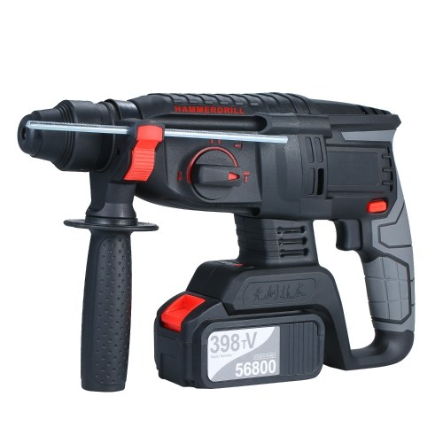21V Brushless Heavy Duty 4 Function Rotary Hammer Drill 1 Inch SDS-plus Adjustabl Grip Handle 980 RPM Cordless Drill Demolition Kit with Two 4.0Ah Battery and Carry Box