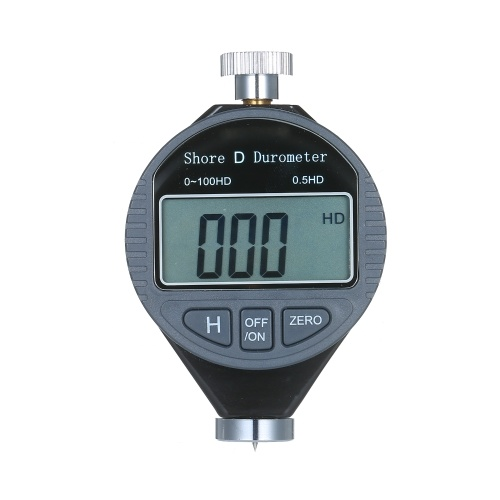 Portable 0-100HD Shore D Hardness Tester Meter Digital Durometer Scale for Rubber Tire Plastic Flooring with Large LCD Display