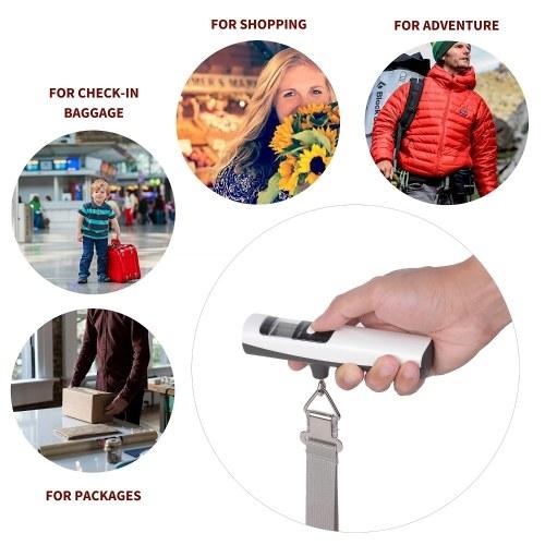 Батарея без багажа Цифровые весы 50 кг / 110 фунтов Электронные весы Весы Портативные электронные весы Карманные цифровые весы фото