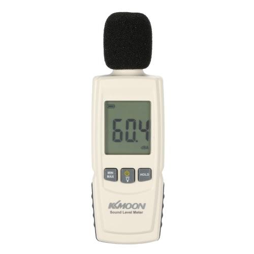 KKmoon LCD Digital sonido medidor de nivel volumen de ruido medición de decibelios instrumento monitoreo Tester 30-130dB