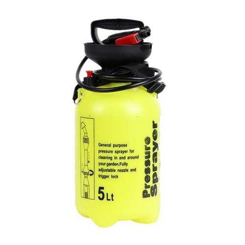 5L手動式噴霧器散水噴霧散水缶アトマイザー、圧力リリーフバルブ付きロングワンドチューブ調節可能なショルダーストラップ、ホームクリーニング用ガーデニング農業用散水