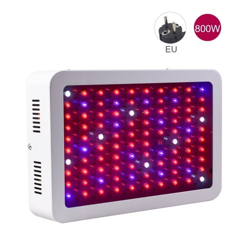 800W LED Grow Light Bulbs Full Spectrum Dual-Chip UV IR Red Blue White Hydroponic Growing Lamp for Seed Starting Greenhouse Vegetable Flower