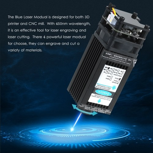 20W Laser Module Laser Head 450nm Blue Lase for Laser Engraving Machine Wood Marking Cutting Tool