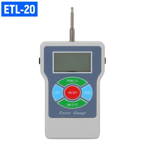 ETL-20 Digital Tension Meter Force Meter Tester Handheld Tensionmeter Force Tester Scale for Tension and Compression Load Plug Force Destructive Test