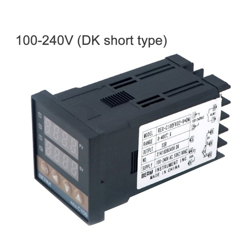 PID Digital Intelligent Temperature Controller REX-C100FK02-V*DN 0-400°C K Type Input SSR Output (100-240V DK short) E12033-3