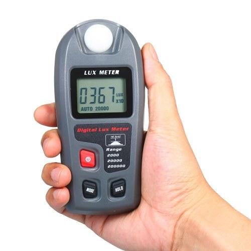 Измеритель освещенности Цифровой измеритель освещенности 0,1-200 000 люкс (0,01-20 000 фк) 4 переключаемых диапазона Портативный илонометр Карманный дизайн Ручной люксметр ЖК-экран фото