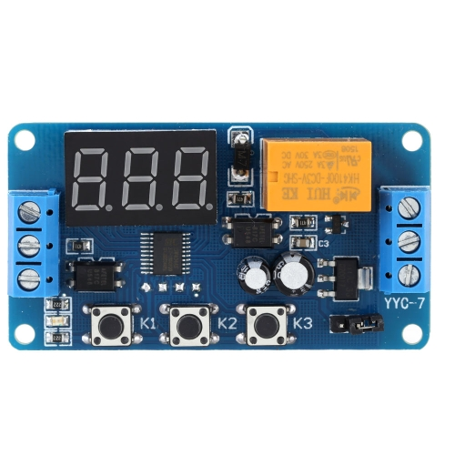 LED Display Automation Digital Delay Timer Control Relay Switch Module 3V/3.7V/4.5V/5V/6V