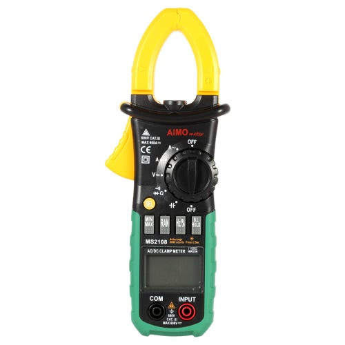 AIMO MS2018 Portable Digital Clamp Meter Multimeter AC/DC Current Voltage Resistance Capacitance Measurement Diode Continuity Test Auto Manual Range
