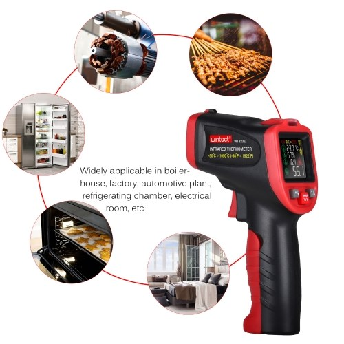 Wintact -50℃~1050℃ Infrared Thermometer Professional Industrial Thermometer Multi-Purpose Instrument, TOMTOP  - buy with discount