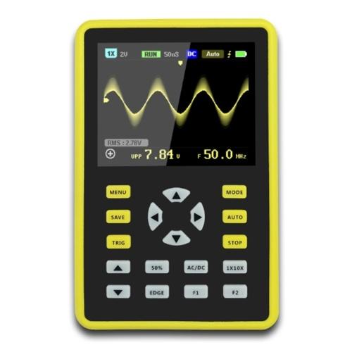 Tester per oscilloscopio portatile LCD da 2,4 pollici IPS oscilloscopio digitale 100MHz 500MS / s