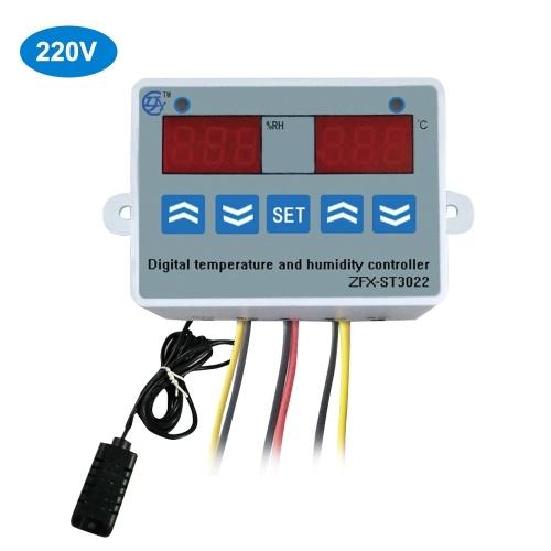 ZFX-ST3022温度湿度コントローラーデジタルデュアルディスプレイサーモスタットヒューミスタットコントローラー