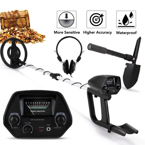 GT-5080 Portable Easy Installation Underground Metal Detector High Sensitivity High Accuracy Jewelry Treasure Gold Metal Detecting Tool Metal Finder for Adults and Kids
