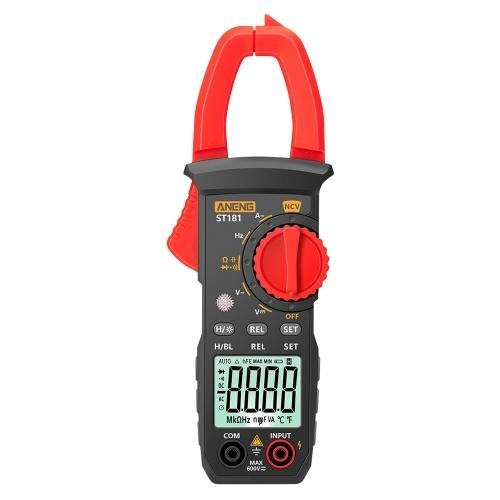 ANENG ST181 4000カウントデジタルAC電流クランプメーター400A自動範囲マルチメーター、バックライト電圧メーター付きクランプゲージNCVテストクランプ電流計ユニバーサルメーターテスター測定容量/ダイオード/ AC電流/ AC / DC電圧/抵抗/周波数
