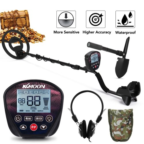 KKMOON MD-820KK LCD Large Screen Metal Detector Handheld Easy Installation High Sensitivity High Accuracy Metal Detecting Tool Jewelry Treasure Gold Metal Finder for Adults and Kids