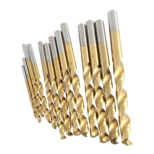 13pcs/set HSS Plating Titanium Twist Drill Bit Set Metric System 1.5-6.5mm High Quality Woodworking Wood Metal Drilling Tool