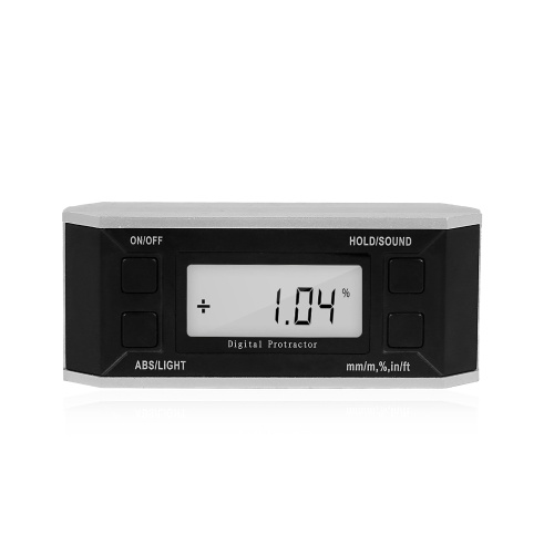 Digital Level and Angle Finder Level Angle Gauge Electronic Inclinometer Digital Protractor with Backlight LCD Display 0-360 Degree Range