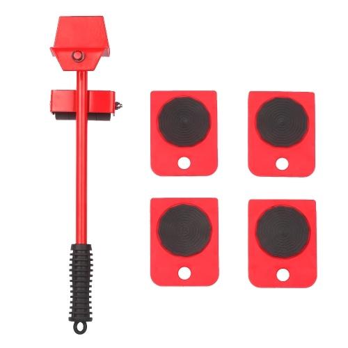 重い家具移動キットイージームーバーアプライアンスローラーリフター移動システム、4輪スライダー付きソファキャビネット移動用リフターキットテーブル180度調整可能なプライバーのヘッド