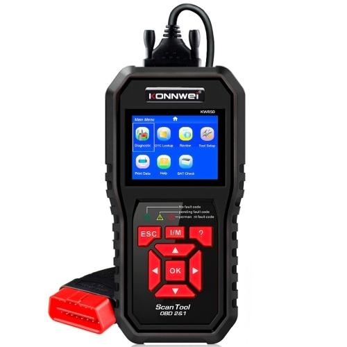 KONNWEI KW850 Herramientas de escáner de diagnóstico automático multifuncional Herramienta de diagnóstico de automóvil Verificar motor Lector de código de máquina de diagnóstico a bordo automotriz