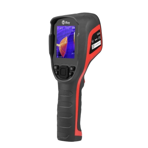 -20~550℃ 2.8-inch LCD Digital Infrared Thermal Imager Handheld IR Thermal Imaging Camera 256 * 192 IR Resolution with 16G Storage Card Carrying Pouch for HVAC Vehicle Electrical Equipment Test Maintenance