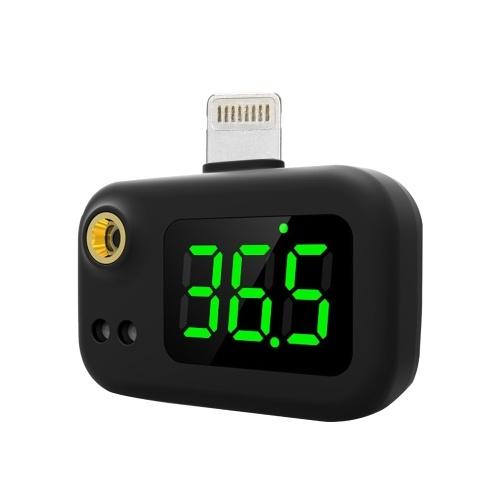 Berührungsloses Stirnthermometer Digitales Infrarot-Thermometer für Erwachsene und Kinder Sofortlesen in einer Sekunde ℃ / ℉ Einstellbar mit 3 hochempfindlichen Sensoren Große LED-Anzeige (Beleuchtung)
