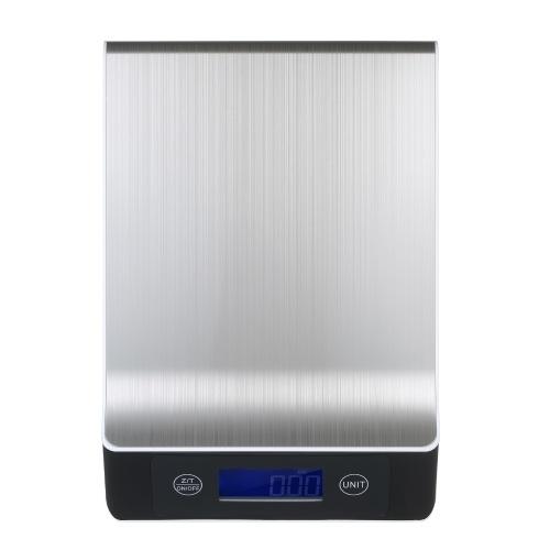 防水面付き高精度デジタルスケール5kg / 1gバックライト付き電子スケールLCDディスプレイポータブルキッチンスケールベーキングスケール