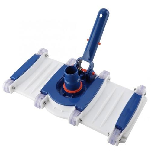 長方形のプール掃除機の頭が地上にあるプールの掃除機の頭スパ掃除機のアタッチメント、加重ベースとホイール付き