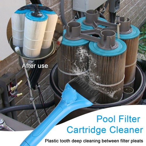 Pool Filter Cartridge Cleaner Swimming Pool Filter Cleaner Handheld Cleaning Brush Outdoor Hot Tubs Cleaning Accessories