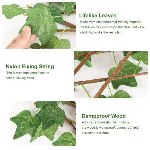 40CM Lifelike Courtyard Railings Garden Decoration Expandable Plant Natural Fence Waterproof Dampproof Paling