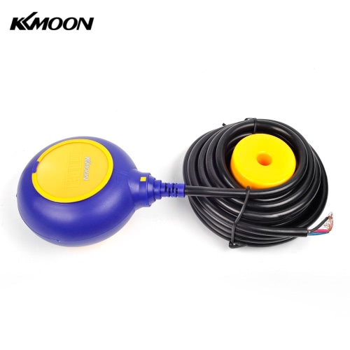 KKmoon 6m Automatic Round Float Switch Liquid Fluid Level Controller Sensor for Water Tank Tower